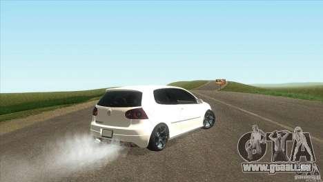 Volkswagen Golf pour GTA San Andreas vue de droite
