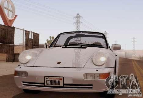 Porsche 911 Carrera 4 Targa (964) 1989 für GTA San Andreas zurück linke Ansicht