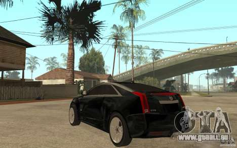 Cadillac CTS V Coupe 2011 pour GTA San Andreas sur la vue arrière gauche