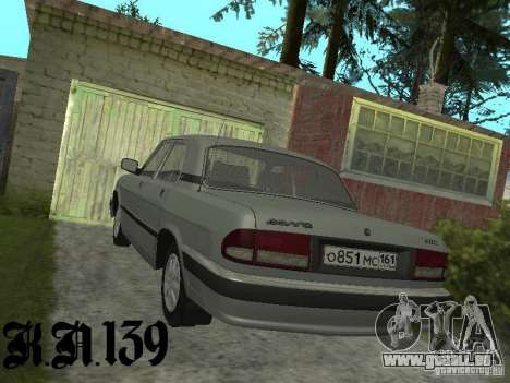 Gaz 3110 béta 0.1 pour GTA San Andreas laissé vue