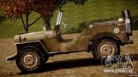 Jeep Willys [Final] pour GTA 4 Vue arrière de la gauche