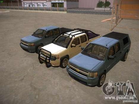 Chevrolet Silverado für GTA San Andreas Unteransicht
