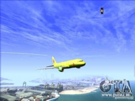 Airbus A-320 S7Airlines pour GTA San Andreas vue intérieure