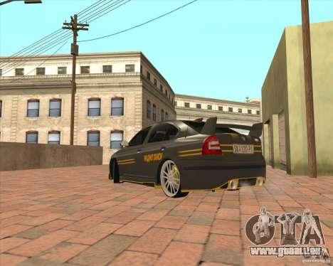 Skoda Octavia Taxi pour GTA San Andreas sur la vue arrière gauche
