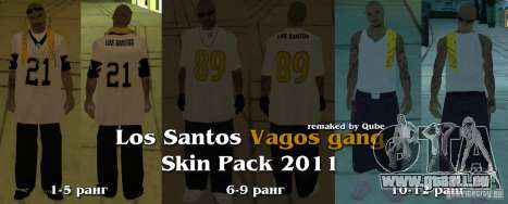 Nouveaux skins The Gang de Vagos pour GTA San Andreas