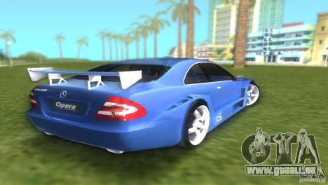 Mercedes-Benz CLK500 C209 pour GTA Vice City sur la vue arrière gauche