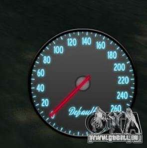Tachometer IV (Haut 3) für GTA 4 Sekunden Bildschirm