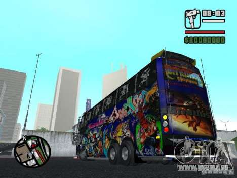 Neoplan pour GTA San Andreas vue arrière