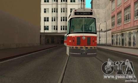 Canadian Light Rail pour GTA San Andreas sur la vue arrière gauche