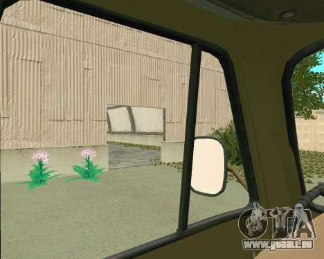 UAZ 3303 pour GTA San Andreas vue intérieure