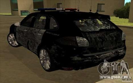 Porsche Cayenne Turbo 958 Seacrest Police pour GTA San Andreas vue de dessus