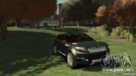 Land Rover Rang Rover LRX Concept pour GTA 4 est un droit