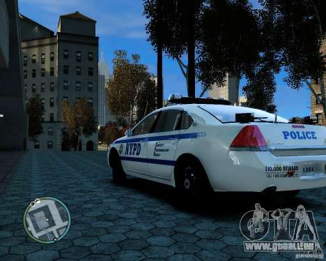 NYPD Chevrolet Impala 2006 [ELS] pour GTA 4 est un droit
