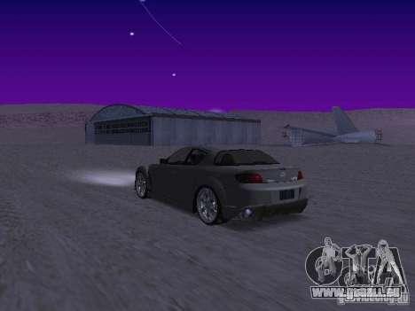 Mazda RX-8 Veilside pour GTA San Andreas sur la vue arrière gauche