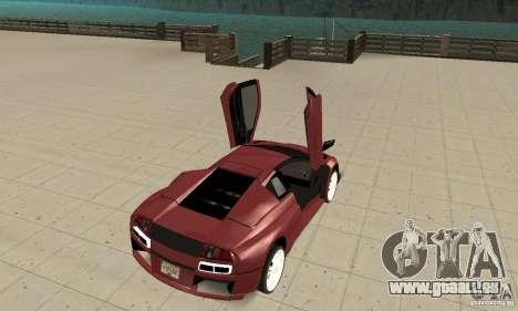 Lamborghini Murcielago Tuned pour GTA San Andreas vue arrière