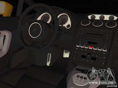 Lamborghini Gallardo für GTA Vice City Rückansicht