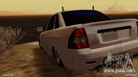 LADA 2170 Californie pour GTA San Andreas laissé vue