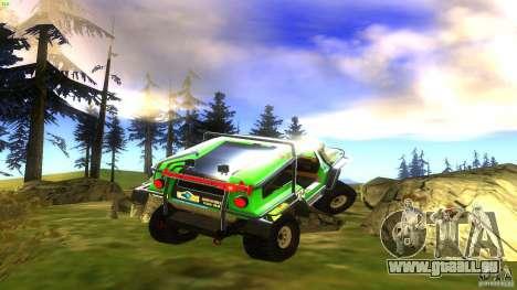 Raptor für GTA San Andreas zurück linke Ansicht