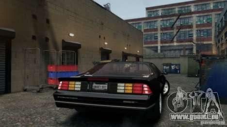 Chevrolet Camaro IROC-Z 1990 v1.0 pour GTA 4 est un droit
