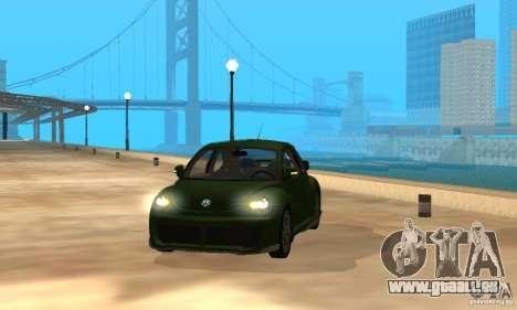 Volkswagen Bettle Tuning pour GTA San Andreas vue intérieure
