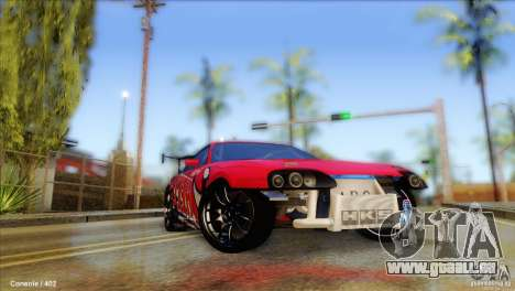 Toyota Supra HELL für GTA San Andreas Rückansicht