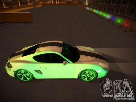 Porsche Cayman S Snow pour GTA San Andreas vue intérieure