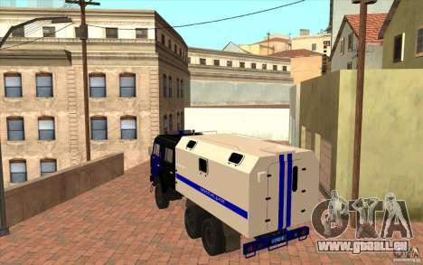 KAMAZ Police pour GTA San Andreas vue de droite