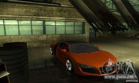 Audi R8 V12 TDI pour GTA San Andreas vue intérieure