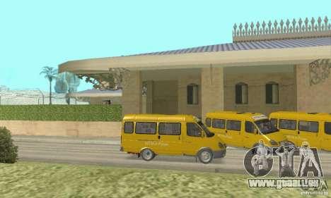 Gaz 2705 Minibus pour GTA San Andreas sur la vue arrière gauche