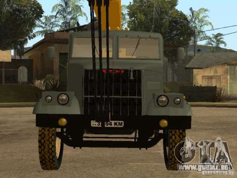 Camion KrAZ pour GTA San Andreas vue arrière