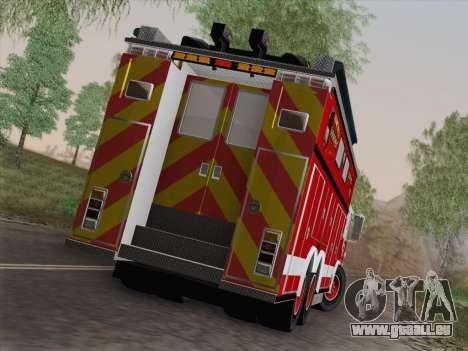 Pierce Walk-in SFFD Heavy Rescue für GTA San Andreas Innen