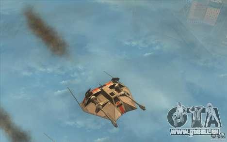 T-47 Snowspeeder für GTA San Andreas linke Ansicht