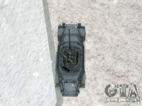 Transportpanzer des Spiels hinter den feindliche für GTA San Andreas Rückansicht
