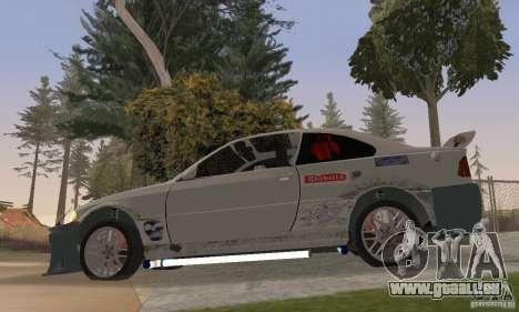 BMW M3 Hamman Street Race pour GTA San Andreas sur la vue arrière gauche