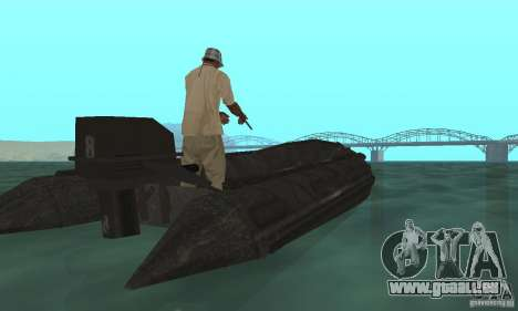 Bateau de Cod mw 2 pour GTA San Andreas laissé vue