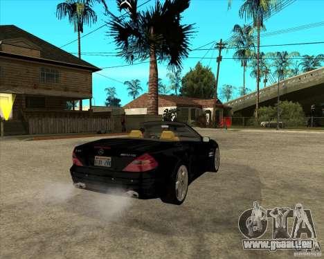 Mercedes Benz AMG SL65 V12 Biturbo pour GTA San Andreas sur la vue arrière gauche