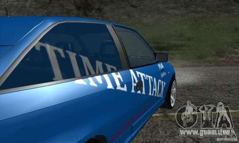 Opel Astra Time Attack für GTA San Andreas Innenansicht