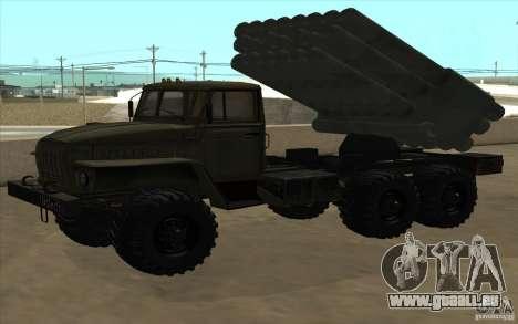 Ural 4320 Grad v2 pour GTA San Andreas vue arrière