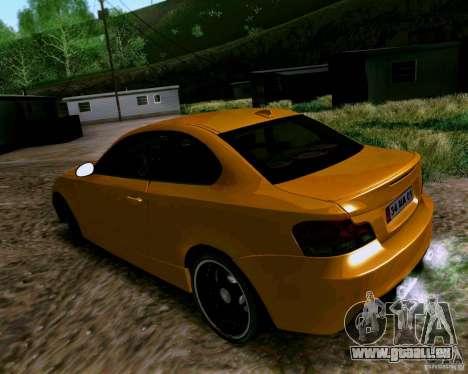 BMW 135 Tuning pour GTA San Andreas sur la vue arrière gauche