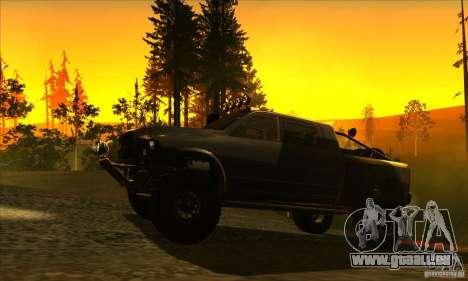 Dodge Ram All Terrain Carryer pour GTA San Andreas sur la vue arrière gauche