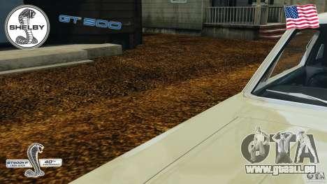 Shelby GT 500 pour GTA 4 est une vue de dessous