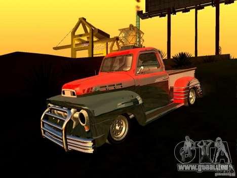 Ford Pick Up Custom 1951 LowRider für GTA San Andreas zurück linke Ansicht