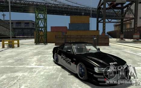 Nissan 200SX Police v0.2 pour GTA 4 Vue arrière