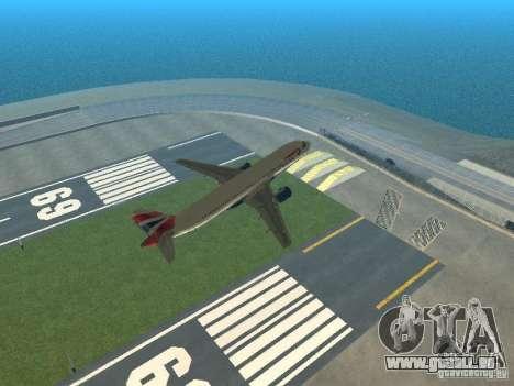 Airbus A320 British Airways für GTA San Andreas Unteransicht