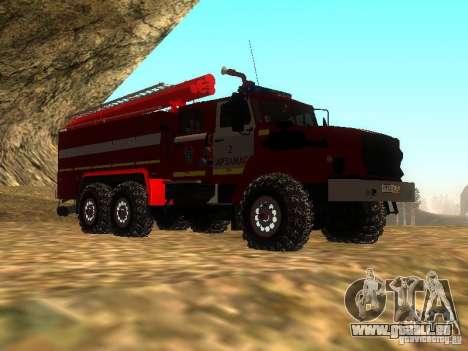 Ural 43206 AC 3.0-40 (6 x 6) pour GTA San Andreas vue de droite