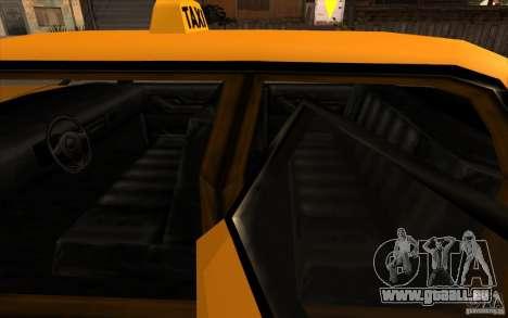 Oceanic Cab pour GTA San Andreas vue arrière