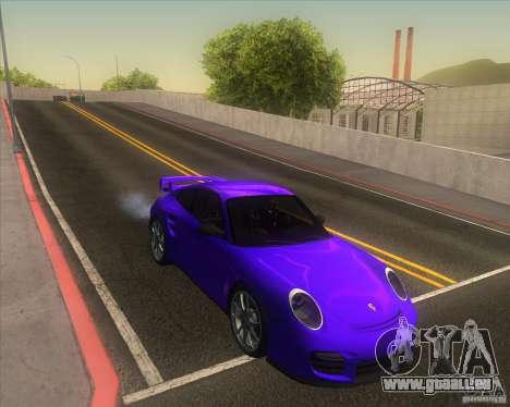 Porsche 911 GT2 (997) pour GTA San Andreas vue intérieure