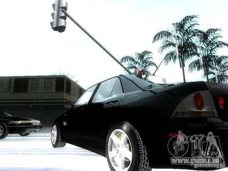 Lexus IS300 pour GTA San Andreas vue de dessous