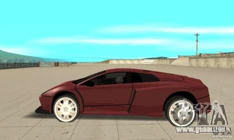 Lamborghini Murcielago Tuned pour GTA San Andreas laissé vue