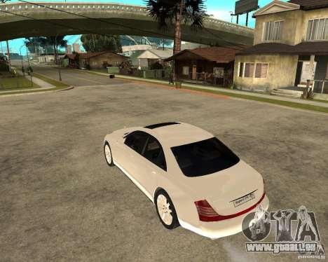 Maybach 57 S pour GTA San Andreas laissé vue